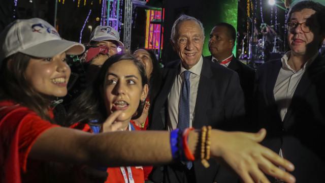 Marcelo subiu ao palco, tirou selfies e foi recebido com vivas no Panamá