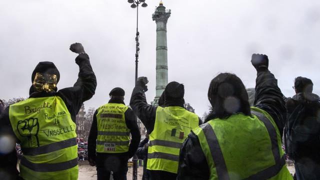 Coletes amarelos querem chegar a Bruxelas mas falta estrutura ideológica
