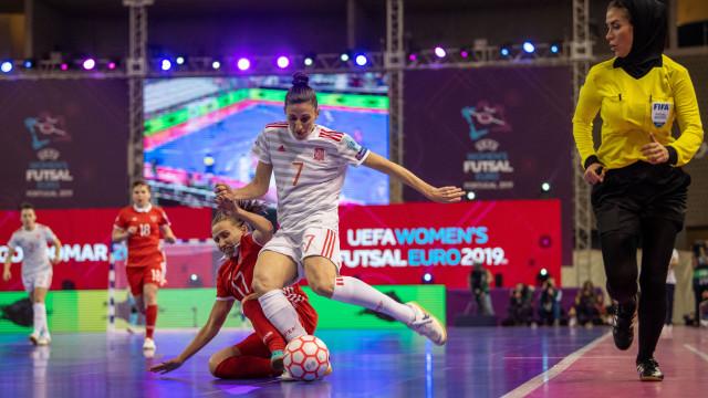 Espanha é a primeira finalista do Europeu de futsal feminino