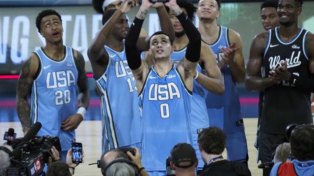 Estados Unidos vencem jogo das 'estrelas em ascensão' do 'All Star'