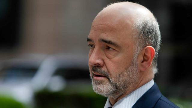 """Moscovici confessa-se """"aliviado"""" com resultados das eleições europeias"""