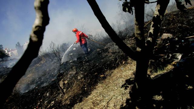 Dominado fogo em Monchique que fez um ferido ligeiro
