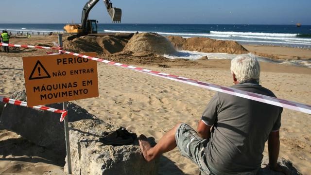 Enchimento de praias para travar erosão costeira custa milhões ao Estado