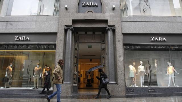 Grupo da Zara perde 5,9 milhões e ações atingem mínimos de três anos