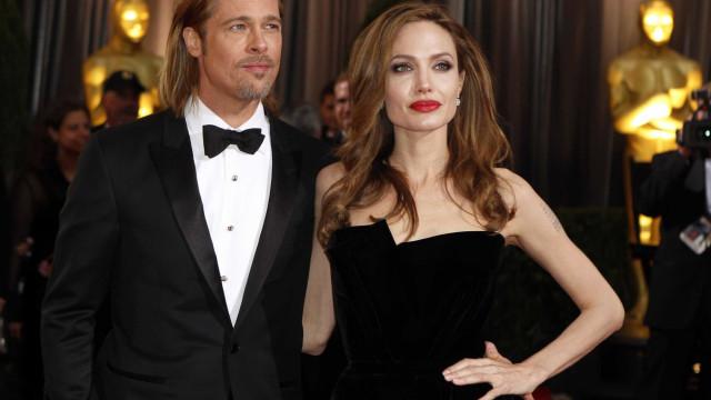 """Jolie levou o filho aos Globos de Ouro e Brad Pitt ficou """"furioso"""""""