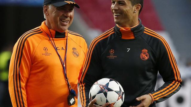 CR7 ligou a Ancelotti e o técnico deu-lhe um conselho, revelam em itália