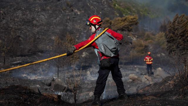 """Fogo na Serra de Água preocupa bombeiros mas """"não há registo de danos"""""""