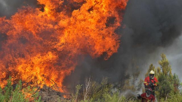 Fogo de Ferreira do Zêzere obriga à retirada de algumas pessoas em Dornes