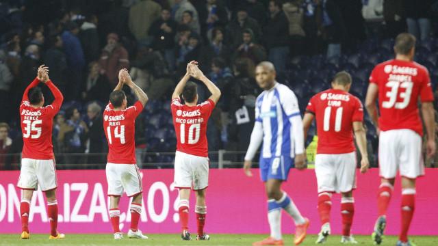Benfica levou sempre a melhor sobre o FC Porto