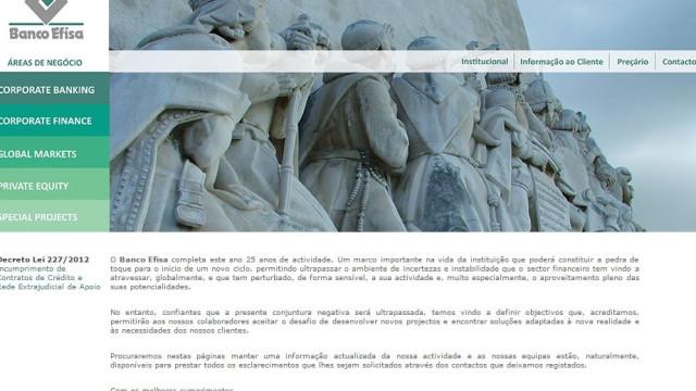 Banco Efisa: Interessados em apresentar propostas têm 20 dias