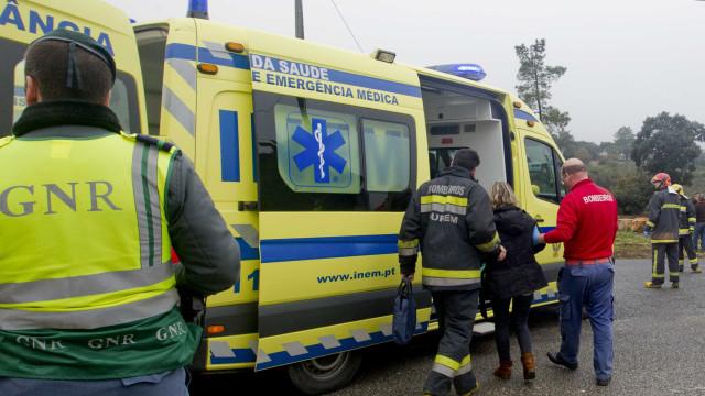 Despiste na A6 provoca dois feridos graves