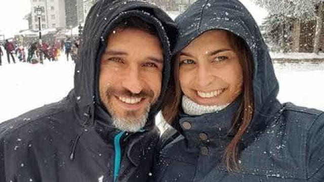 Andreia Dinis celebra aniversário do companheiro