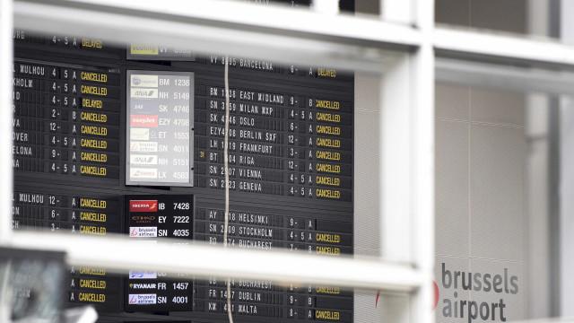 Aeroporto de Bruxelas continua fechado na quarta-feira