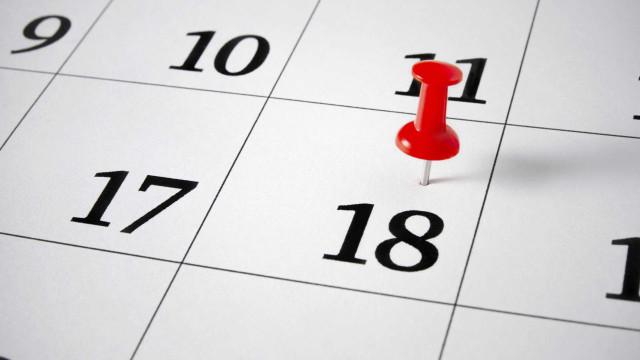 Feriados, fins de semana grandes e pontes a marcar: O calendário de 2018