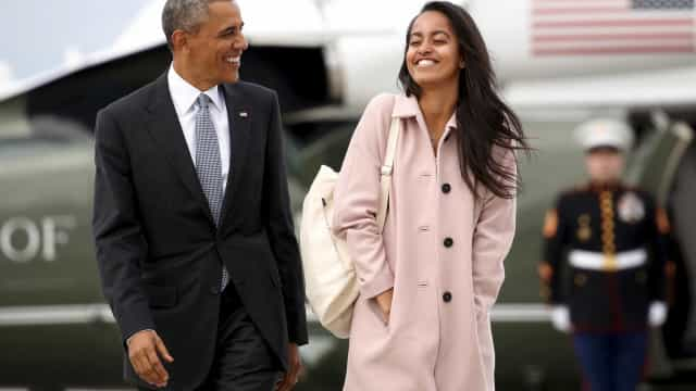 Filha de Obama vai para a universidade… e Obama emociona-se na despedida
