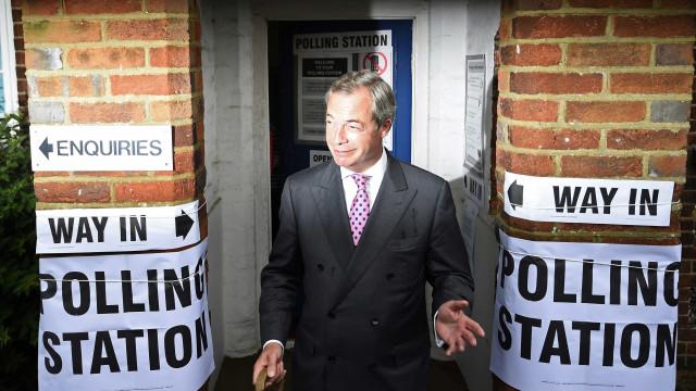 Farage: Rosto do Brexit não abdica de pensão paga pela União Europeia