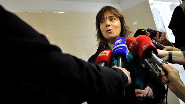 Catarina Martins participa em reunião de partidos de esquerda em Bruxelas