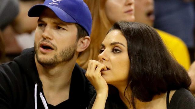 Mila Kunis e Ashton Kutcher causam polémica na internet