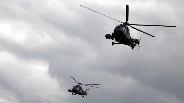 Acidente com dois helicópteros militares provoca cinco mortos