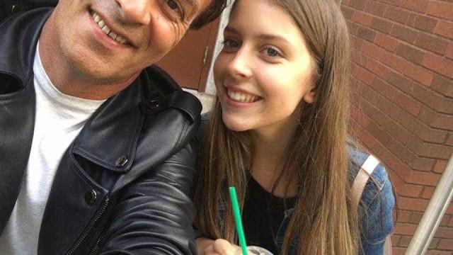 Tony Carreira de férias em Itália com a filha Sara