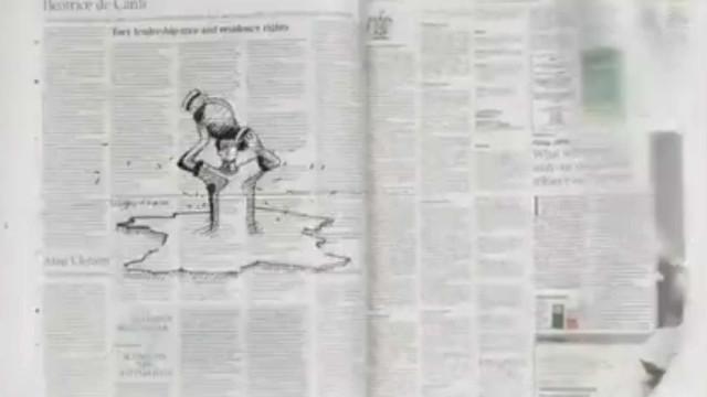 Uma caneta e muita criatividade. O flip-book do Euro num jornal
