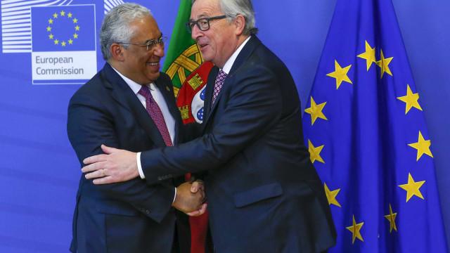 Juncker e Costa juntam-se em jantar de trabalho na quarta-feira