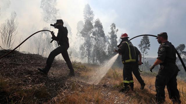 Operação de rescaldo do fogo em Góis com 600 operacionais no terreno