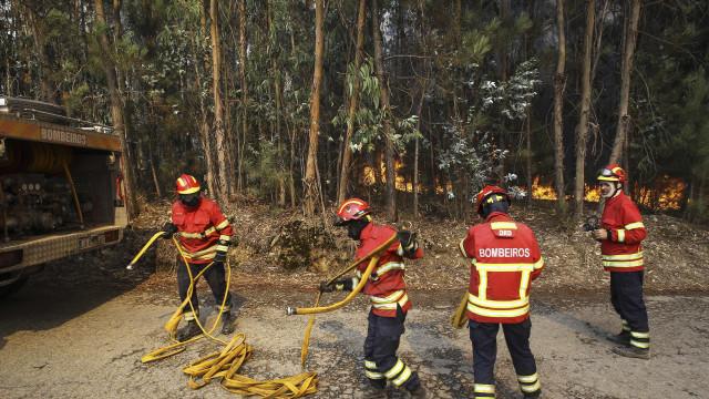 Calor faz regressar incêndios. Mais de 100 bombeiros estão no terreno