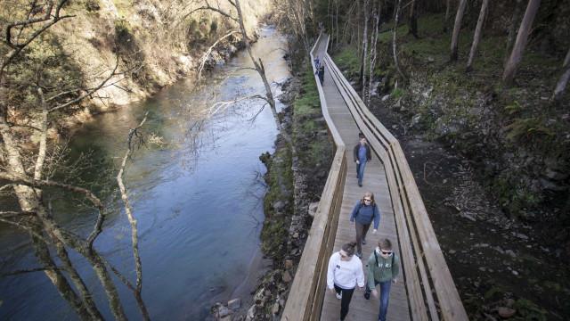 """Passadiços do Paiva com """"obra especial"""": Uma ponte pedonal transparente"""