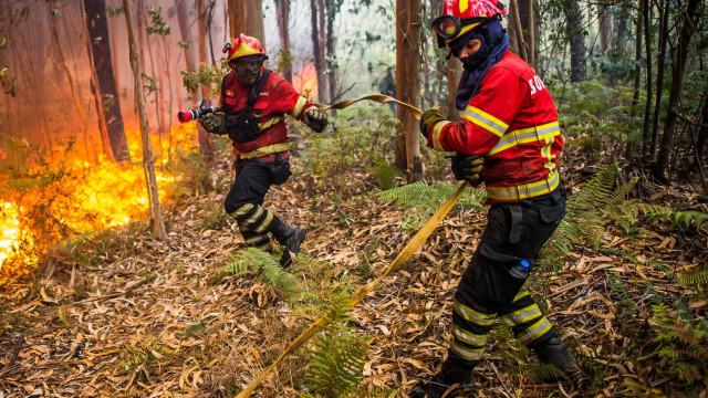 Fogo em Vila Verde mobiliza mais de 200 operacionais e cinco meios aéreos