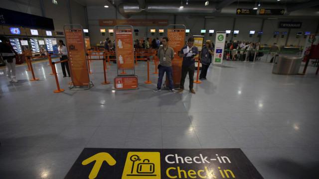Passageiros em transporte aéreo continuaram a aumentar no 1.º trimestre