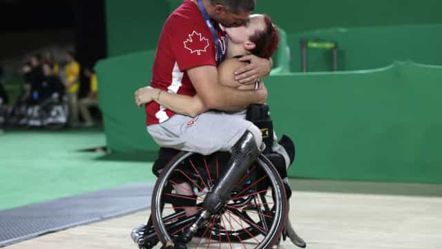 Está escolhido. É este o momento mais romântico dos Paralímpicos