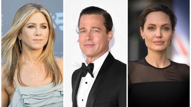"Angelina Jolie ""furiosa"" com visita de Jennifer Aniston a Brad Pitt"