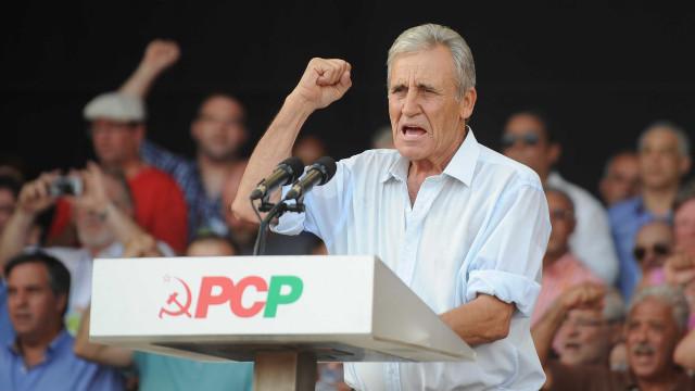"Jerónimo reage a ""desabafos"" do Presidente e recusa pressões sobre o PCP"