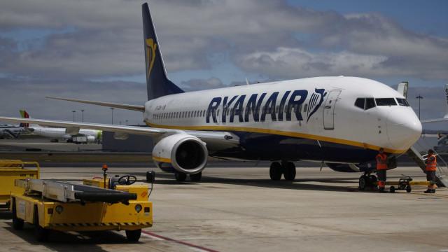 Tripulantes de cabine da Ryanair em greve no dia 28 de setembro