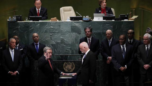 O juramento de Guterres como secretário-geral das Nações Unidas