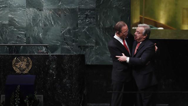 """Guterres pronto """"para seguir passos de Ban Ki-Moon"""" e """"estabelecer a paz"""""""