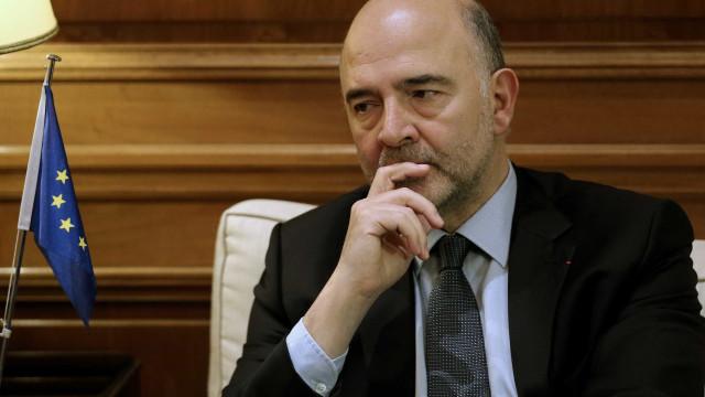 Moscovici em Lisboa para discutir com Centeno prioridades do Eurogrupo
