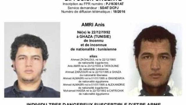 Anis Amri passou por França antes de chegar de comboio a Milão