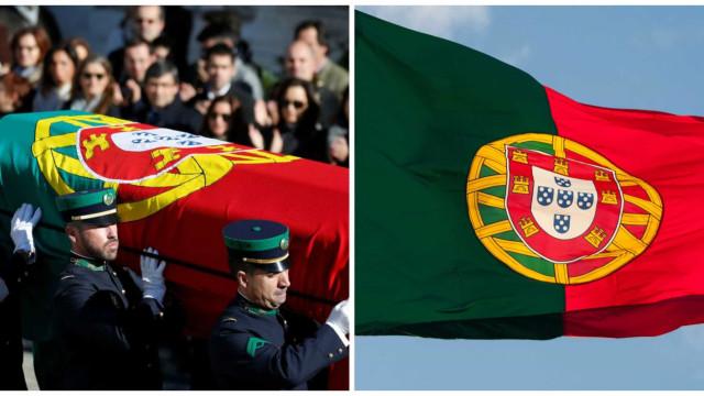 Bandeira nacional que ontem cobriu urna de Mário Soares não era a oficial
