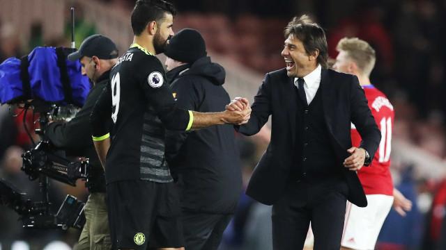 Antonio Conte deixou mensagem de despedida a Diego Costa