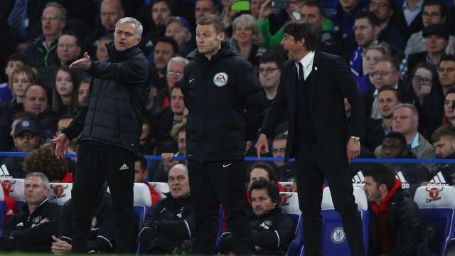 Mourinho falou na Luz, Conte respondeu em Londres e instala-se a polémica