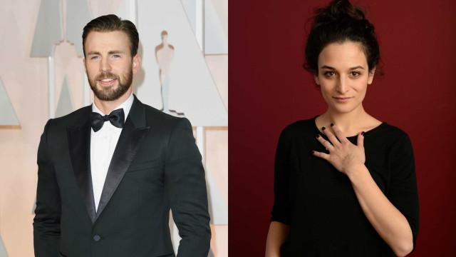 Jenny Slate e Chris Evans estão juntos novamente