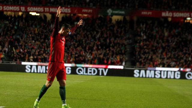 Portugal-Andorra: Cristiano Ronaldo treina à parte