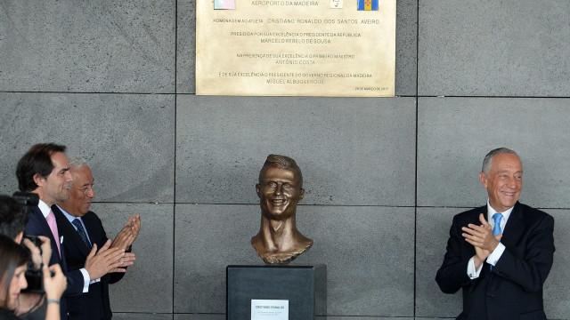 Ronaldo já tem 'cara nova' no Aeroporto da Madeira
