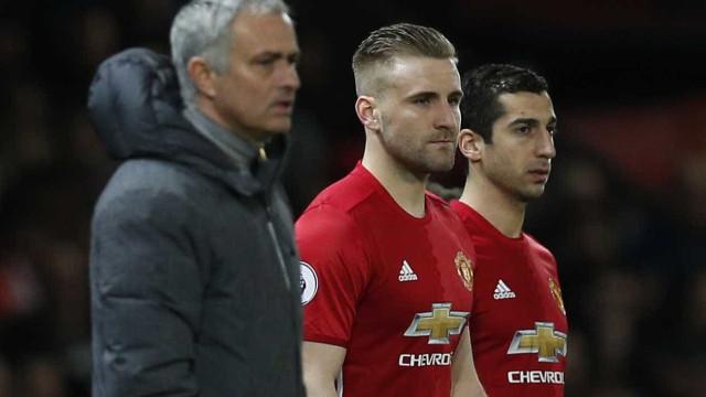 Desentendimento no treino entre Luke Shaw e Mourinho
