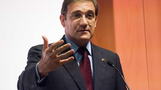 """Bloco e PCP """"rosnam mas não mordem"""" ao Governo, critica Passos"""