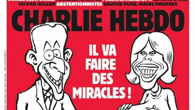 Charlie Hebdo volta a causar polémica... agora por causa de Macron
