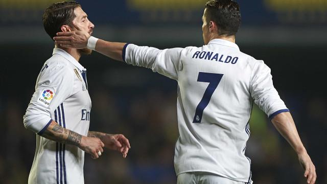"""Zidane e o desentendimento entre CR7 e Sergio Ramos: """"Está resolvido"""""""