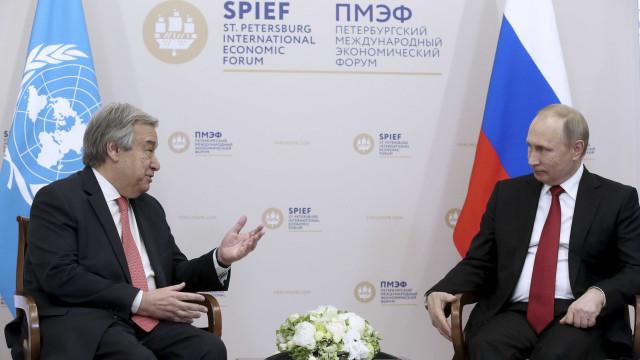 Guterres vai reunir-se com Putin e Lavrov e vai assistir ao Mundial2018